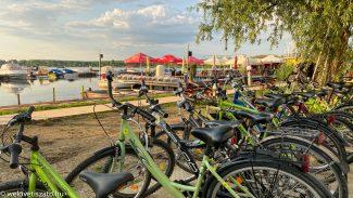 Kerékpárkölcsönzés, megállók – Pünkösd a Tisza-tónál