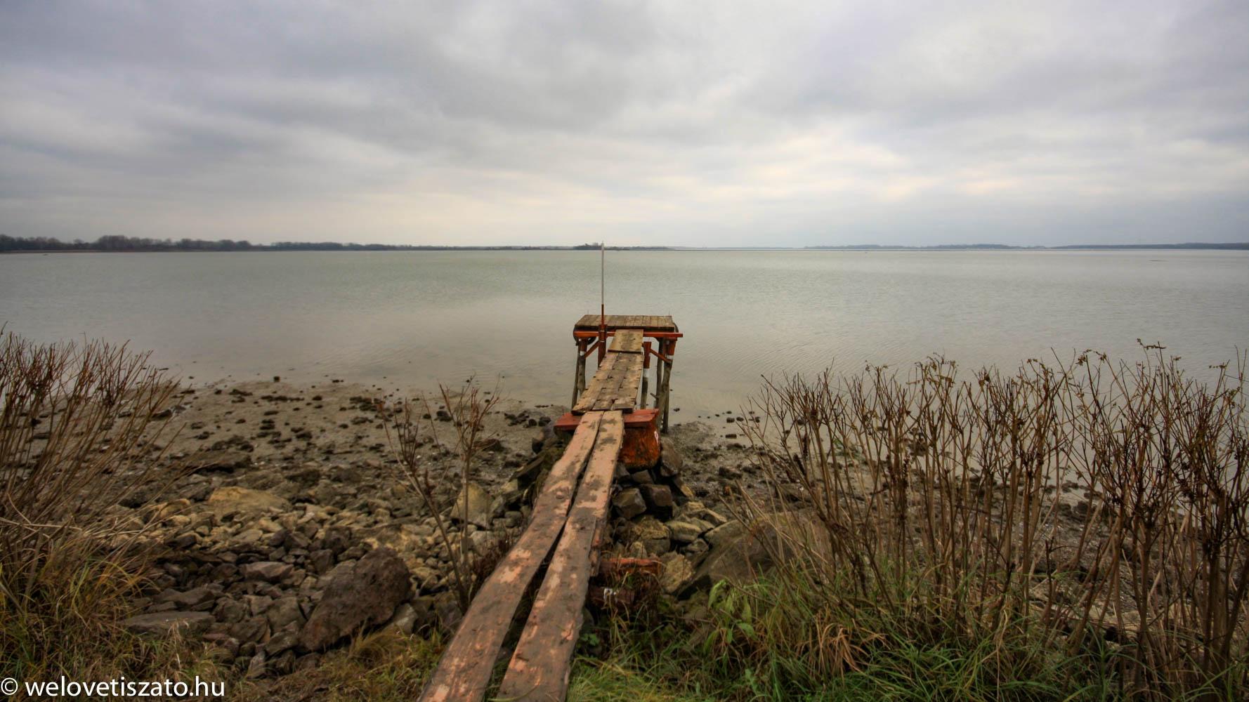 Tisza-tó téli vízszint - Abádszalók