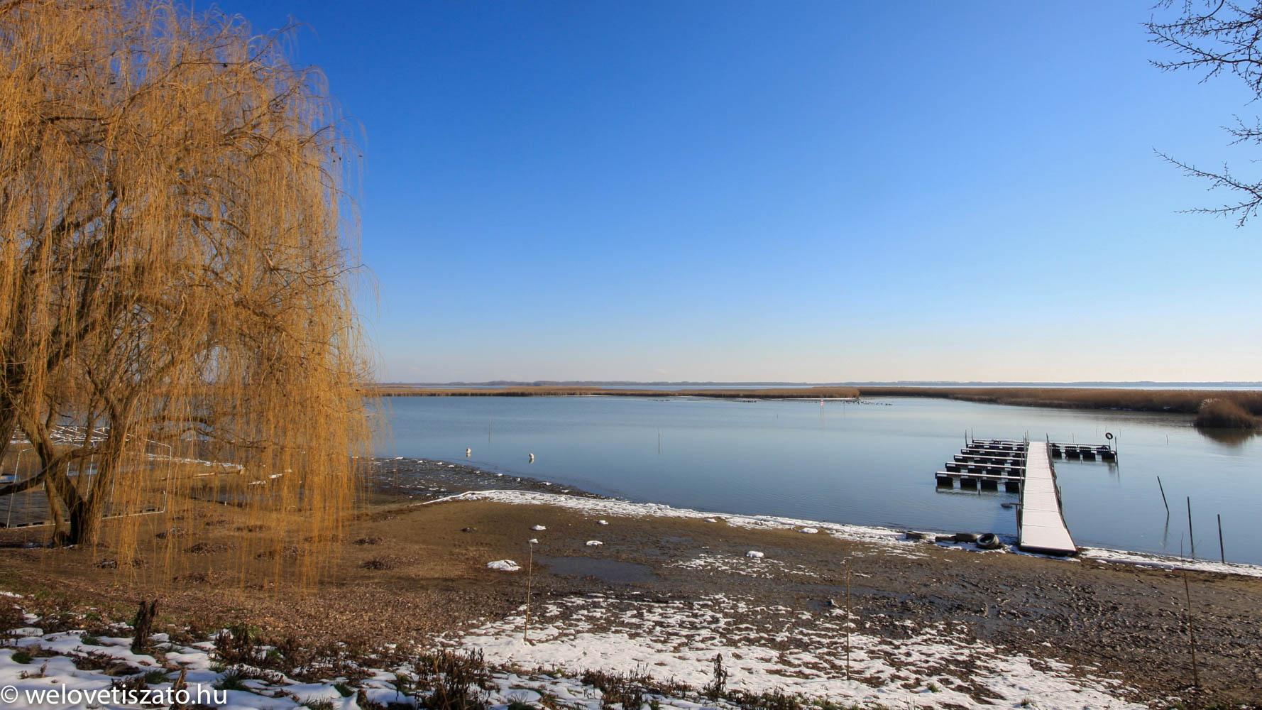 Poroszló strand télen