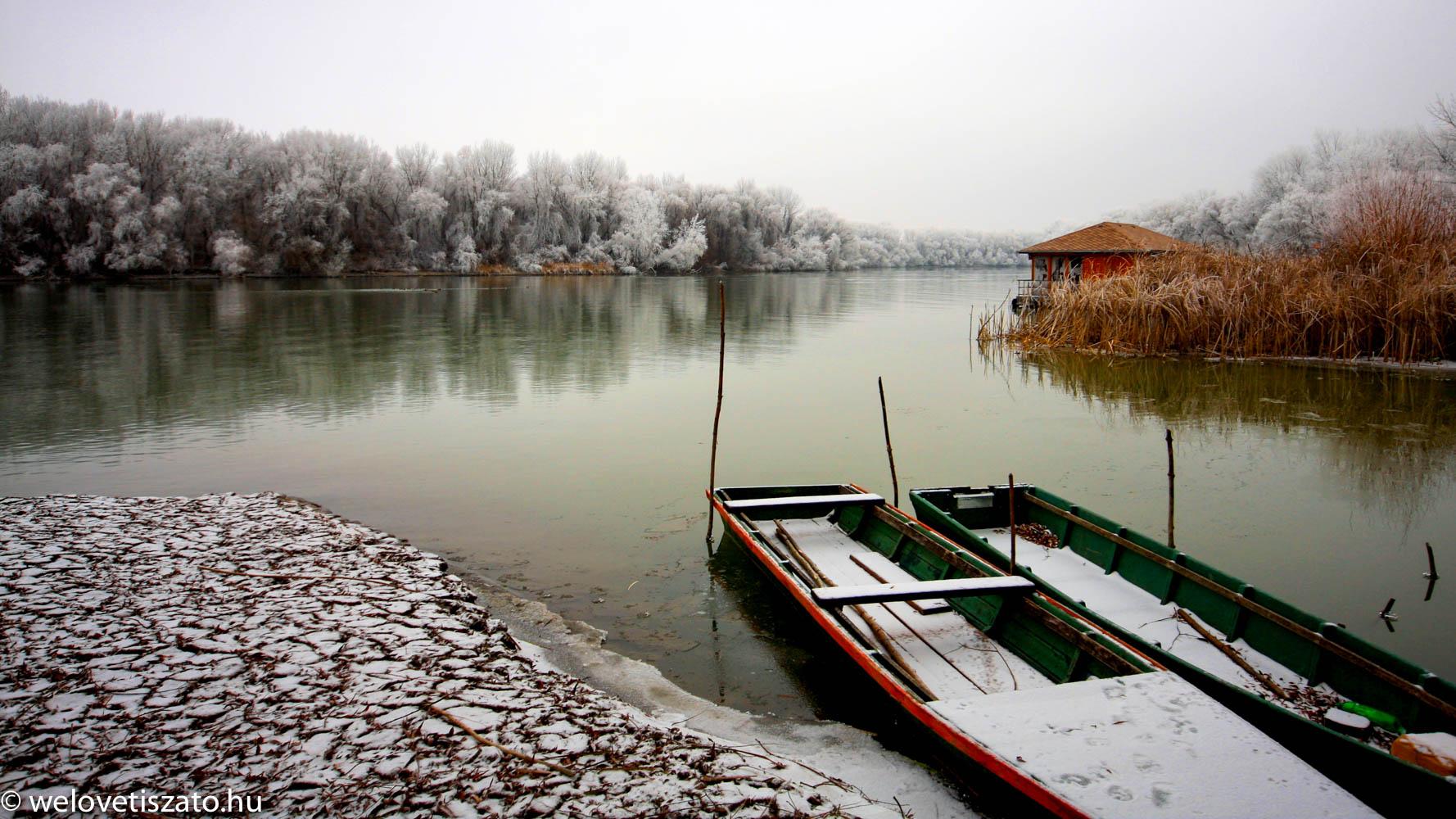 téli túra Tisza-tó