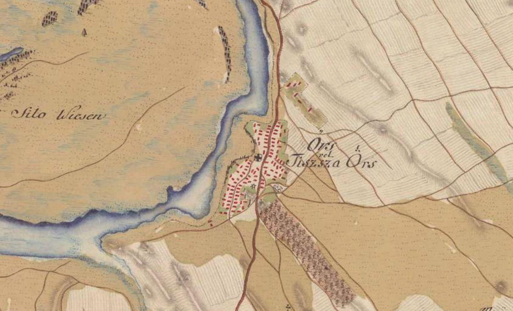 Tiszaörs - I. katonai felmérés (1782-1785)