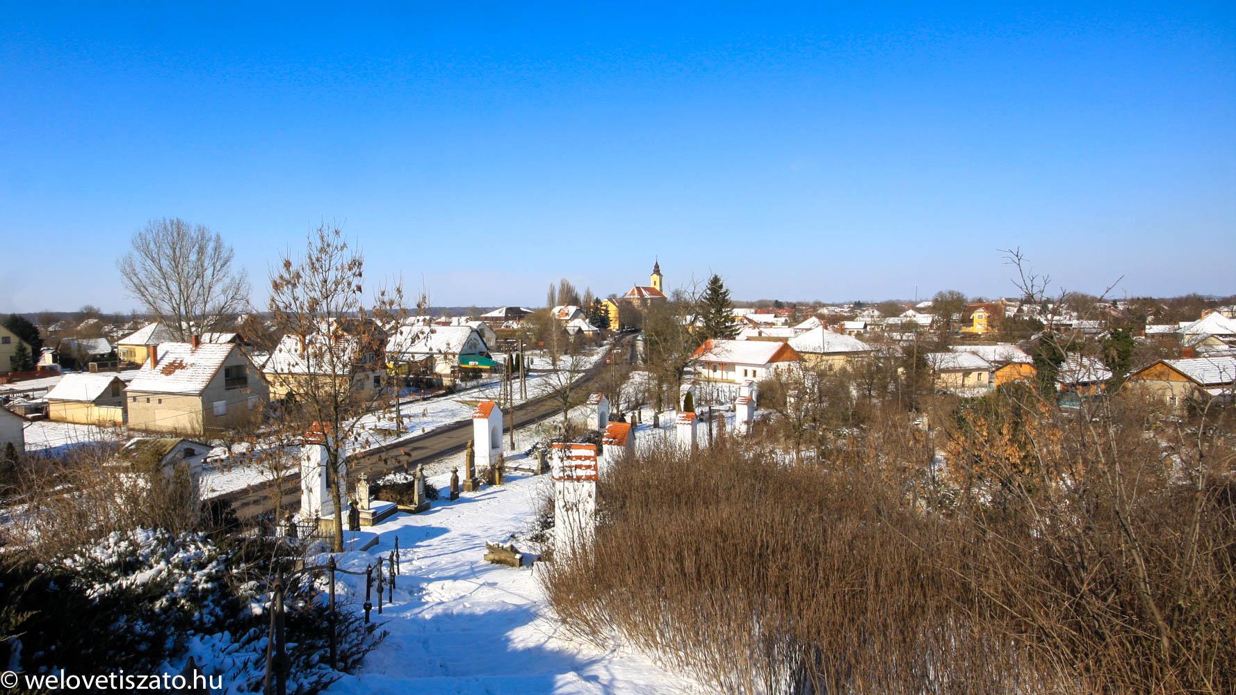 Tiszaörs - kálvária télen