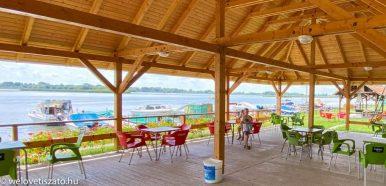 Nyitva tartó teraszos éttermek, büfék a Tisza-tónál