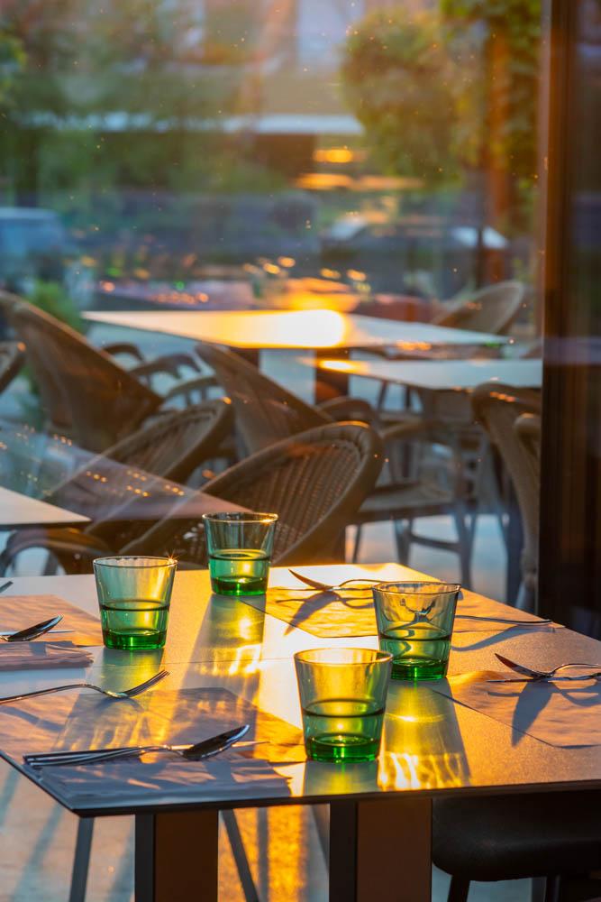 Mariska étterem a lemenő nap fényében